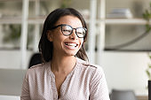African ethnicity businesswoman portrait of company owner or leader