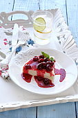 cherry cake dessert for delicious and noon enjoyment