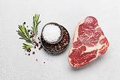 Ribeye fresh raw beef steak