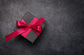 Valentines day greeting card with gift box