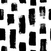 Grunge vertical bold brushstrokes hand drawn vector seamless pattern. Vertical dry paint brush stripes handdrawn background.