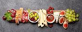 Antipasto plate. Appetizer board