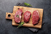 Fillet mignon fresh raw beef steaks