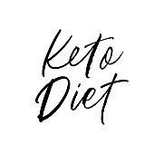 Keto diet hand drawn vector calligraphy. Modern and cursive letters style. Design for t-shirt, banner, logo, cover.