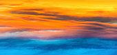 Sunset dramatic sky