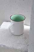 white mug cup.