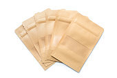 Brown paper bag packaging with valve and seal