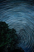 Might Himalayas and Star Trail