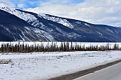 Traveling the AL-CAN also known as the Alaska Highway in the Spring