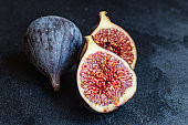 figs ripe juicy fruit slices serving size organic healthy ething natural product portion top view place for text copy space keto or paleo diet raw