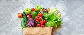 vegetables healthy eating, raw organic Assortment fresh fruits food Menu concept. background top view copy space for text, keto or paleo diet
