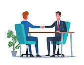 Businessman shaking hands. Successful negotiation or agreement. Business partnership concept