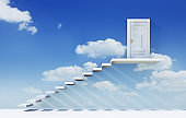 Staircase to open heavens door