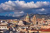 Panorama of Palermo, Sicily, Italy
