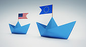 US and European Paper Boats