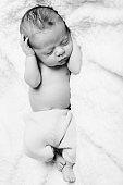 Newborn who sleeps peacefully
