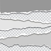 Torn paper with ripped edges realistic vector illustration