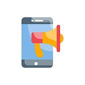 Digital Marketing Vector Icon Flat  Style Illustration.