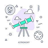 Astronomy vector illustration flat design concept. EPS 10 File
