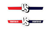 Versus Logo blue vs red. VS vector letters illustration. Competition icon. Vector illustration.