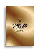 Gold cover design. Premium quality. Crown.