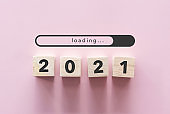 New year 2021 is coming creative inspire idea concept background. New start for planing or set new resolution in life .Business solution.