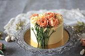 'Footstalk' Buttercream Flower Cake