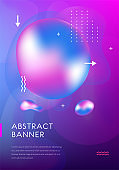 Modern brochure cover, futuristic design. Abstract Diffuse colored fluid spots background. Vector template minimalist poster, pop art flyer, hipster style, typography wallpaper Art, print, web banner.