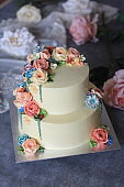 Ranunculus Buttercream Flower Cake