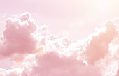 Rainbow Clouds. Background. sun and cloud background with a pastel colored.