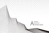 Architecture Drawing Abstract Background.