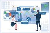 Business workflow, time management, planning, task app, teamwork, meeting.