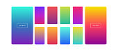 soft color background. modern style colorful screen vector design for mobile app. soft colors gradients