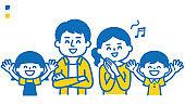 Smiling family illustration
