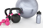 3D Rendering Exercising Concept stock photo