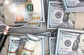 economy concept a lot of money stock photo