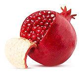 Ripe pomegranate fruit peeled