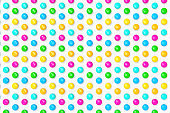 Colourful chocolate bean candies on white background stock photo