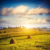 Fantastic sunny day in mountain landscape. Carpathian, Ukraine, Europe.