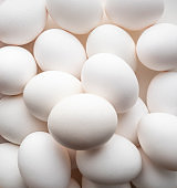 Group of eggs in pater tray