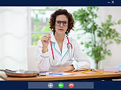 Video chat with doctor during quarantine.