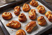Jidase - Czech sweet Easter pastry made of yeast dough