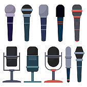 Microphone vector design illustration isolated on white background