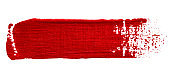 Vector red glitter paint texture isolated on white - acrylic brush stroke element for Your design