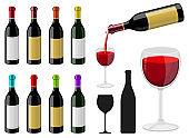 Bottle of wine vector design illustration isolated on white background