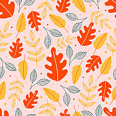 Autumn background with leaves.