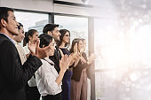 Congratulation. Business Event Conference. business people clapping their hands at the meeting. Business people clapping their hands, congratulation and appreciation concepts