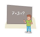 Vector character illustration elementary school education