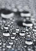 Close up Water droplets macro drops