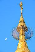Kyaikhtiyo or Kyaiktiyo pagoda Golden rock in temple Myanmar